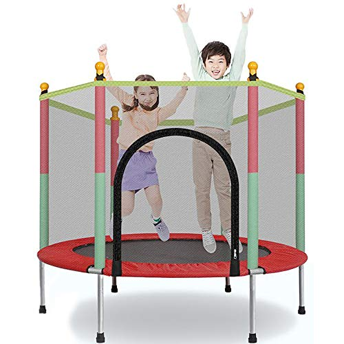 ZLMI Children's Mini Trampoline, Indoor/Outdoor Entertainment Trampoline, with Protective Net, High-Strength Steel Pipe, Strong Structure, Stable And Durable