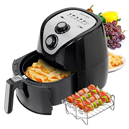 Secura 1500 Watt Large Capacity 3.2-Liter Electric Hot Air Fryer