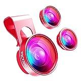 VicTsing 3 iPhone-Objektiv Clip-on, iPhone Kamera Objektiv Kit,180 ° Fisheye Objektiv + 20X...