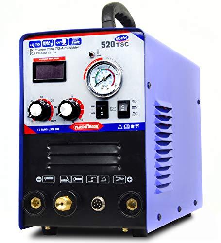 Plasma Cutter STICK TIG Welder - Tosense 3 in 1 Combo 50A Air Inverter Plasma Cutter 200A TIG STICK Welding Machine Dual Voltage 110V/220V 520TSC