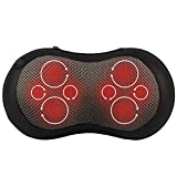 Back and Neck Massager - Kneading Shiatsu Massage Pillow with Heat for Shoulders and Lower Back