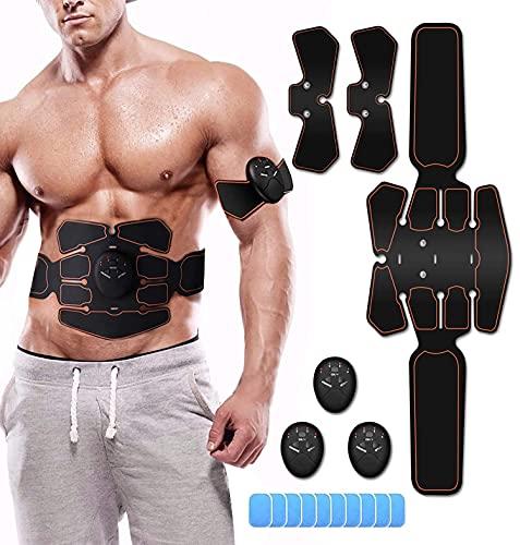 LEMENG Electrostimulateur Musculaire,Ceinture Abdominale Electrostimulation Appareil Abdominal Musculation Electrique, EMS Eletro Stimulateur Homme Femme