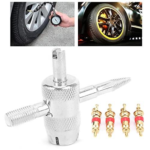Removedor de válvulas de neumáticos, herramienta para núcleos de válvulas, juego de herramientas para núcleos de válvulas para vehículos eléctricos para vehículos todo terreno para