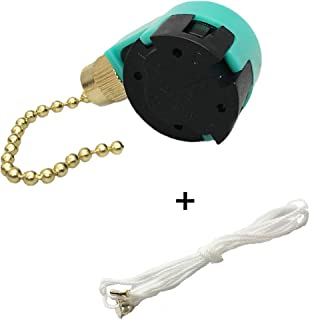 Fan Switch ZE-268S6 Pull Chain Cord Switch, 3 Speed 4 Wire for Fans, Appliances, Replacement Speed Control by Atianany