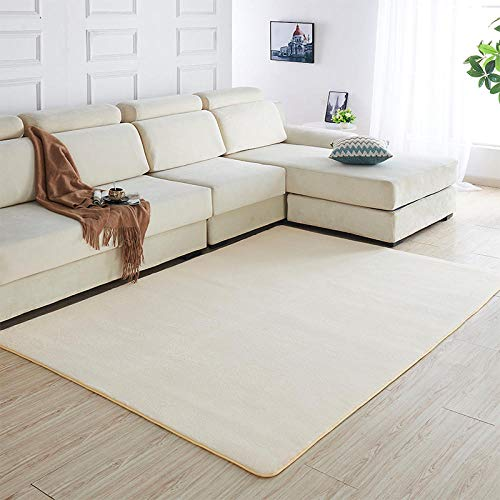 N/A Carpet remnants,Lambskin Fur Rug,SuperFluffy Rug for the Bedroom, Living Room or Nursery Furry Carpet or Throw for Chairs No Shedding,cream color,2x1 meters