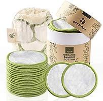 Greenzla Herbruikbare make-up verwijderingspads (pakje van 20) met wasbarewaszak en rondedoosvoor het opbergen | 100%...