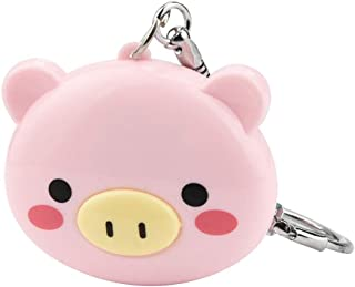 Pendant Keychains Key Ring for Women Lovely Girl Cartoon Supersonic Wave Electronic Insect Mosquito Repellent Key Ring Evangelia.YM (Pink)