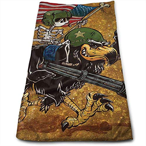 Tyueu Bath Towels Blackhawk Nose Art Face Towels Highly Absorbent Washcloths Multipurpose Towels for Hand Face Gym and Spa 27.5' X 15.7'