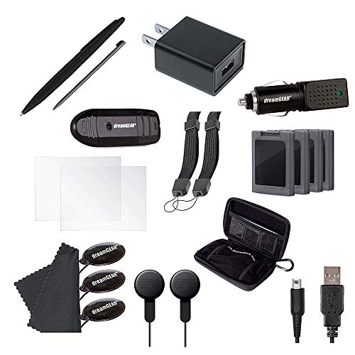 dreamGEAR 20-in-1 Essentials Kit: Compatible with Nintendo NEW 3DS XL,...