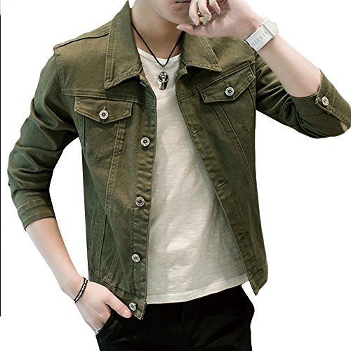 YFFUSHI メンズ デニムジャケット フライトジャケット 全6色 綿 S-3XL 無地 カジュアル スリム ジージャン gジャン 春 夏 秋 合わせやすい