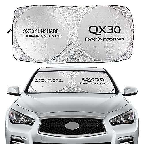 Parasol Coche Cubierta de la sombra del sol del parabrisas del automóvil Compatible con Infiniti Q30 Q50 Q60 Q70 QX30 QX50 QX60 QX70 QX80 Accesorios IPL accesorios anti UV Reflector Visor Cortina de m