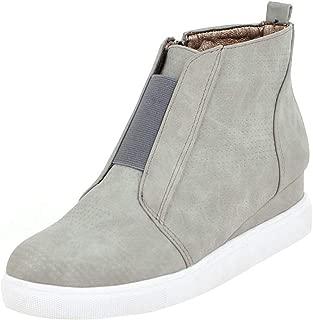 MisaKinsa Women Casual Spring Shoes Zipper Wedge Heels