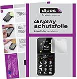 dipos I 2X Schutzfolie klar kompatibel mit bea-fon SL150 Folie Bildschirmschutzfolie