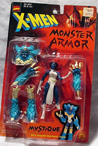 X-Men Monster Armor: Mystique Poseable Action Figure with Snap-On She-Beast Armor