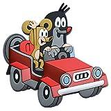 Trötsch Der kleine Maulwurf 3D Magnet rotes Auto: Magnet für Kühlschrank Whiteboards oder...