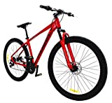 29 Inch Mountain Bikes for Men and Women, 21 Speed Bike and 2.1 Tires Width with Aluminum Lightweight Frame Load-Bearing Over 300 lbs