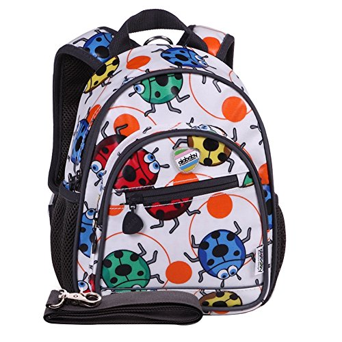 Moonwind impermeabile anti-perso Guinzaglio Bambino Kids School Bag cablaggio Backpack Bambini (Coccinella)