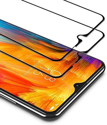 Kit (2 Unidades) de Cristal Compatible con LG K50S 4G / pantalla 6.5 película Transparente Glass Full protección táctil Templado antigolpes Pantalla 9D (Marco Negro)