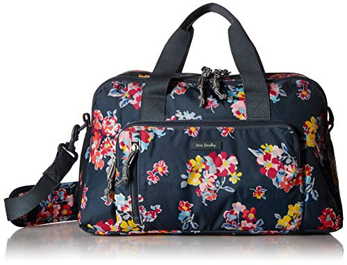 Vera Bradley Women's Lighten Up Compact Weekender Travel Bag, Tossed Posies
