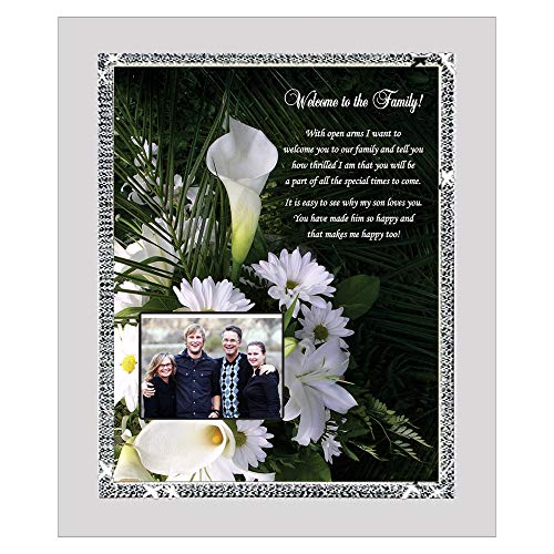 Poetry Gifts Bridal Shower or Wedding Gift for Daughter-in-Law from Mother in Law Sparkling Glitter Frame