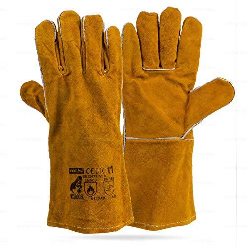 Kevlar Guantes protectores acolchados con puntadas para altas temperaturas durante trabajos de soldadura