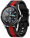 XWZ Smart Watch Uomo Donna Orologio da Polso Tracker attività Sanitaria IP68 Impermeabile Moda Smartwatch Smartwatch Bracciale Pedometro Sport per iOS Android,Black+Red
