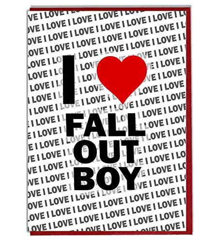I Love Fall Out Jongen wenskaart - Verjaardagskaart - Dames - Heren - Dochter - Zoon - Vriend - Echtgenoot - Vrouw - Broer - Zuster