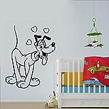 wZUN 2PCS Nette Wandaufkleber Vinyl Raum Cartoon Tierkunst 42X33cm