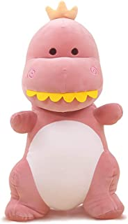 ERDAO Dinosaur Stuffed Animal Toys,Cute Soft Dinosaurs Plush Doll Gifts for Kids Birthday,Valentines (Pink, 11.8 inches)