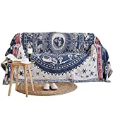UNIGARDEN 70.8' X 90.5' Inches Multi-Function Throw Blanket Double Sided Cotton Woven Couch Throw (Constellation, 70.8'X90.5')