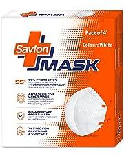 Savlon Mask | BIS Certified FFP2 S Mask (comparable to N95) | Earloop | Pack of 4
