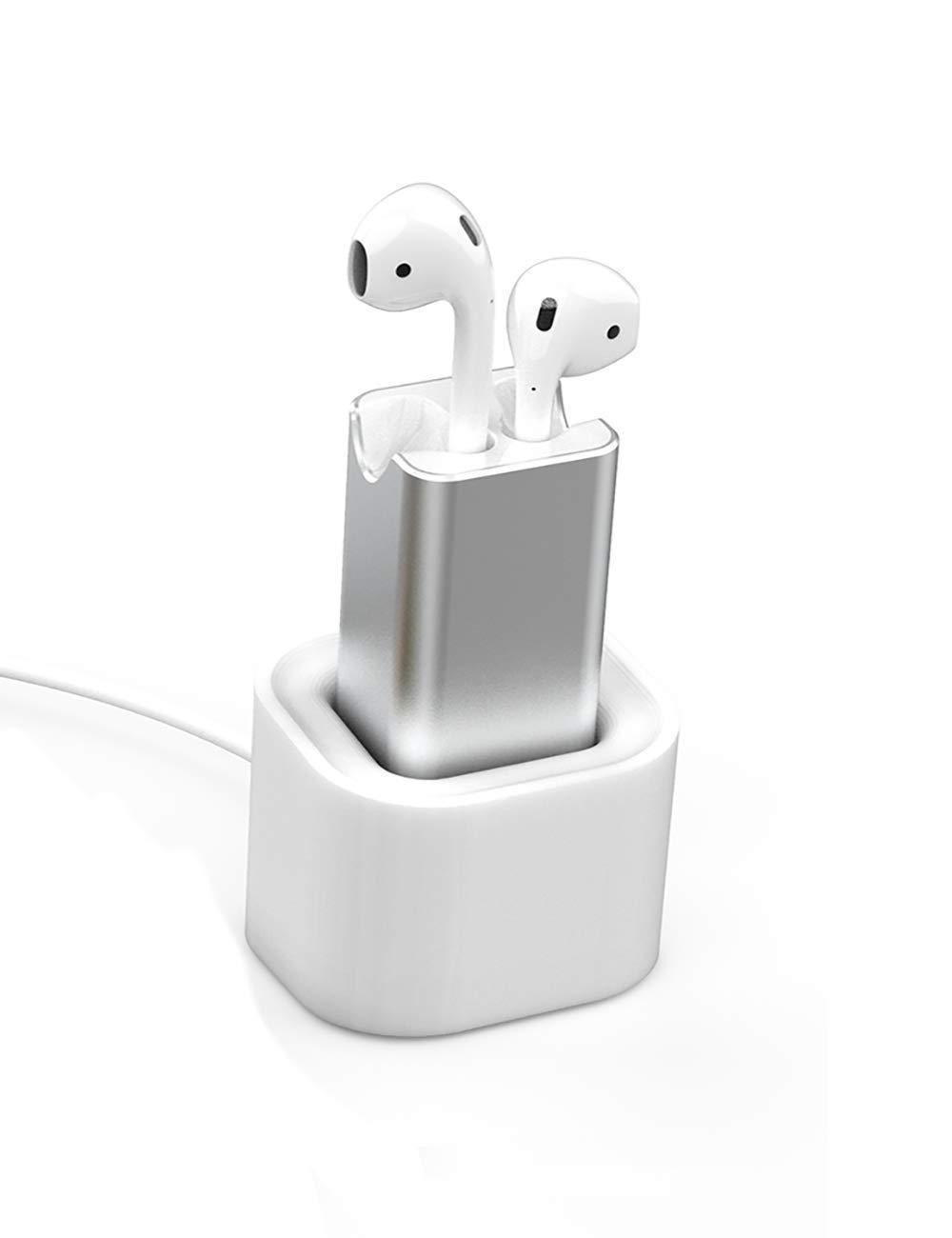 Cargador de Soporte de Auriculares para Airpods, Vou Tiger Base de Carga de Silicona Suave para Auriculares Inalambricos [Carga USB]: Amazon.es: Electrónica