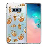 Galaxy S10e Case, Unov Clear with Design Soft TPU Shock Absorption Slim Embossed Pattern Protective Back Cover for Samsung Galaxy S10e 5.8in (Hanging Sloth)