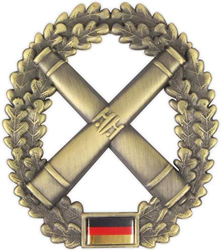 Original Bundeswehr Barettabzeichen aus Metall in verschiedenen Sorten zur Auswahl Farbe Artillerie
