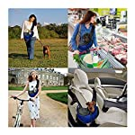 ZHOVAEAL Pet Carrier Dog Cat Hand Free Sling Carrier Outdoor Travel Sling Shoulder Bag for Dogs Cats Walking Subway Daily Use (Fits Small Animals Less Than 9lb Pink) 13