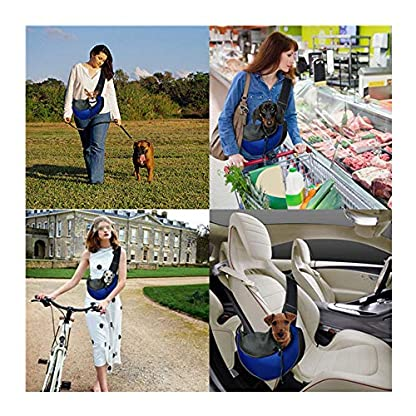 ZHOVAEAL Pet Carrier Dog Cat Hand Free Sling Carrier Outdoor Travel Sling Shoulder Bag for Dogs Cats Walking Subway Daily Use (Fits Small Animals Less Than 9lb Pink) 6