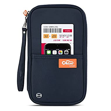 RFID Travel Passport Wallet, Family Passport Holder, Waterproof Document Organizer by FLYNOVA  Travel Accessories for Credit Cards etc.