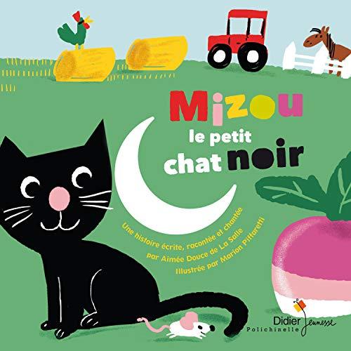 Couverture de Mizou le petit chat noir
