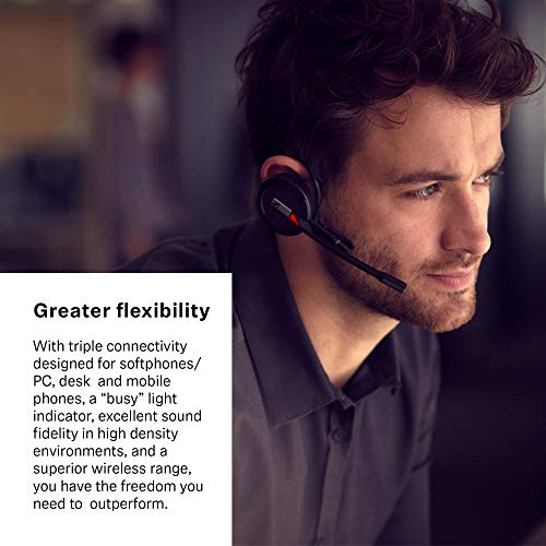 Sennheiser SDW 5016 (507016) Single-Sided Wireless DECT Headset for Desk Phone Softphone/PC& Mobile Phone Connection Dual Microphone Ultra Noise-Canceling, Black, 3 inches Photo #7