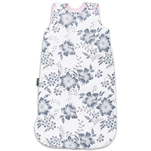 Baby Schlafsack Innenschlafsack für Neugeborene und Kleinkinder - aus 100% Baumwolle - ToG 2.5 - ÖKO-TEX - Ganzjährig Babyschlafsack für Sommer & Winter - Anpassbar 60/75 cm - Pink Berry