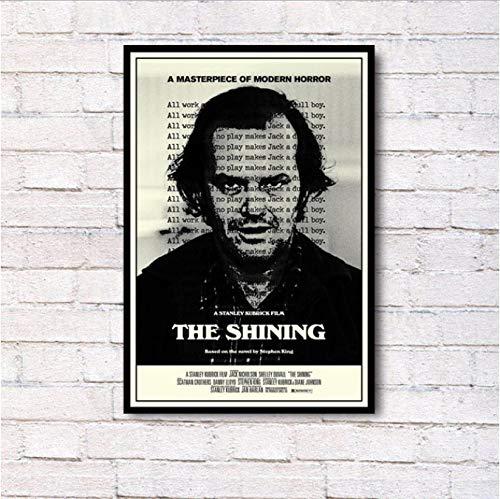 RUIYAN Leinwandbilder The Shining Stanley Kubrick Klassische Horrorfilm Wandkunst Malerei Druck Auf Seide Leinwand Poster Dekoration 40X60 cm Dt12P Rahmenlose