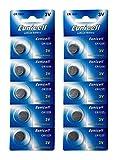 Eunicell 10 x CR1225 3V Lithium Knopfzelle 48 mAh (2 Blistercards a 5 Batterien) EINWEG Markenware