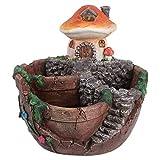 BESTonZON 1 Pieza de Suculenta Maceta de Seta Diseño de Casa Florero Marrón Claro para La Decoración del Hogar