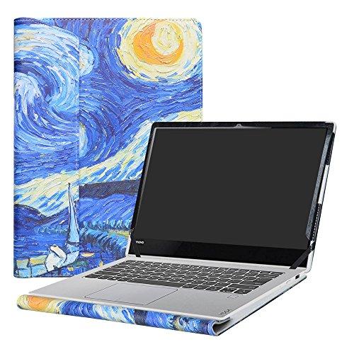 Alapmk Diseñado Especialmente La Funda Protectora de Cuero de PU Para 13.9' Lenovo Yoga 920 920-13ikb/Yoga 910 910-13ikb Ordenador portátil,Starry Night