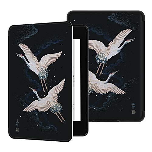 Ayotu Hülle für Kindle Paperwhite 2018 - Schutzhülle mit Auto Sleep/Wake Funktion PU-Leder-Schutzhülle für Amazonas New Kindle Paperwhite (10. Generation – 2018),Fliegende Vögel
