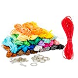 Lanyard Kit, Plastic Cord String for 15 Keychains, 40 Ft Each Spool (31 Colors)