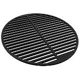 BBQ-TORO - Grille de barbecue en fonte massive et émaillée ronde, différentes tailles au choix pour barbecue au charbon de bois, barbecue à gaz et plus (diamètre de 54,5 cm)