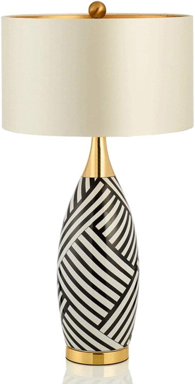 JL-Q Kupferkeramik Amerikanische Tischlampe Creative Zebra Dekoration Wohnzimmer-Wohnzimmer Wohnzimmer Wohnzimmer Nachttischlampe E27 Basis [Energieniveau A ] B07N428Q1D | Angemessener Preis
