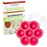 Gefrierbehälter für Babynahrung - Baby Essen Einfrieren - Zubehör zur Erstausstattung + KOSTENLOSES E-BOOK (Rosa)