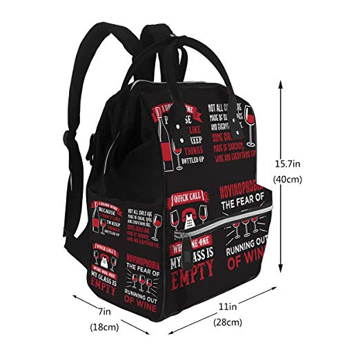 Baby Care Diaper Backpack Wine Quote Saying 100 Best Your Goods Diaper Bags Backpack
